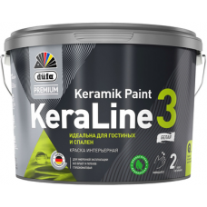Краска для стен и потолков Düfa Premium KeraLine Keramik Paint 3 глубокоматовая белая база 1 0,9 л.