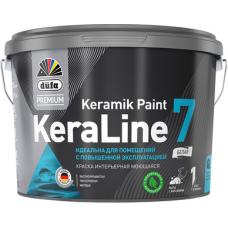 Краска для стен и потолков моющаяся Düfa Premium KeraLine Keramik Paint 7 матовая белая база 1 9 л
