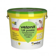 Шпаклевка готовая суперфинишная Weber.Vetonit LR pasta (20 кг)
