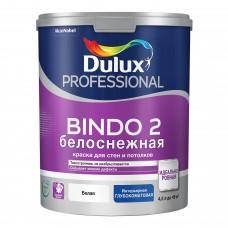 Dulux Professional Bindo 2 глубокоматовая белоснежная 4,5 л.