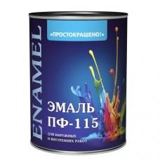 Эмаль ПФ-115 универсальная алкидная Простокрашено белая 0,9 кг