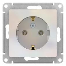 Механизм розетки Schneider Electric AtlasDesign ATN000443 одноместный с заземлением жемчуг