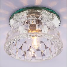 Светильник точечный встраиваемый Italmac Bohemia 220 5 70 G9 прозрачный 40 Вт