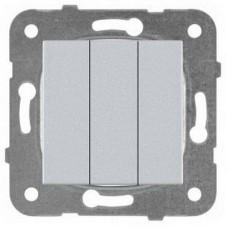 Механизм выключателя Panasonic Karre Plus WKTT00152SL-RES трехклавишный серебро