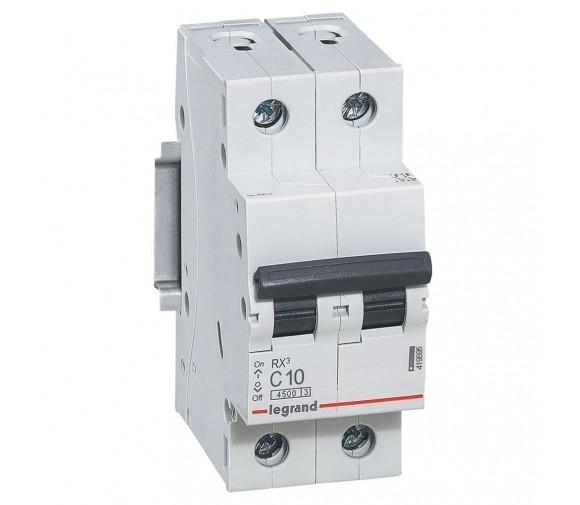 Автоматический выключатель Legrand RX3 419695 2P C 10A 4,5 кА