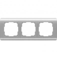 Рамка трехместная Werkel Stream WL12-Frame-03 серебряная