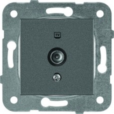 Розетка проходная телевизионная 12dB Panasonic Karre Plus WKTT04522DG-RES темно-серый