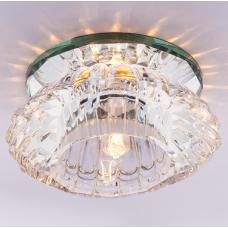 Светильник точечный встраиваемый Italmac Bohemia 220 3 70 G9 прозрачный 40 Вт