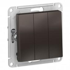 Механизм выключателя Schneider Electric AtlasDesign ATN000631 трехклавишный мокко