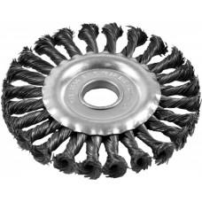 Щетка-крацовка Плоская, витая,150мм/22, стальная, Pobedit