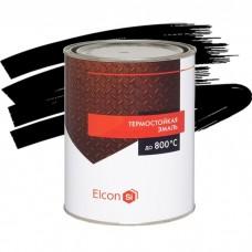 Эмаль Elcon термостойкая черная 1 л