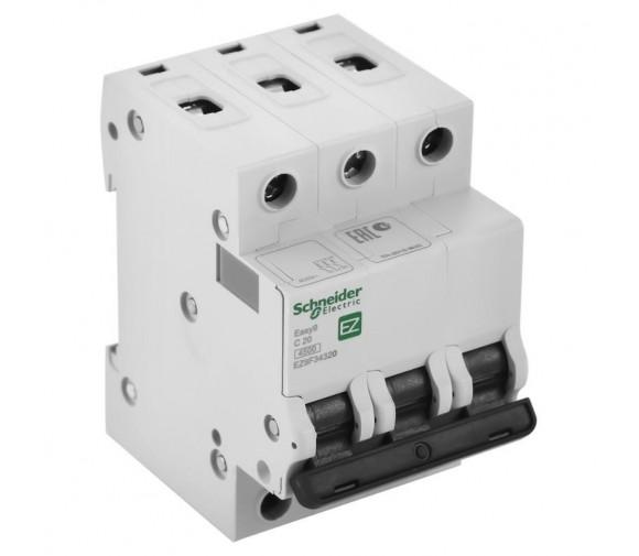Автоматический выключатель Schneider Electric EASY 9 3П C 20А 4,5кА