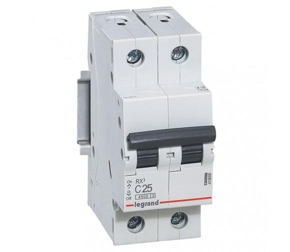 Автоматический выключатель Legrand RX3 419699 2P C 25A 4,5 кА