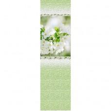 Стеновая панель ПВХ Novita фриз 3D Вишневый сад узор 2700x250 мм