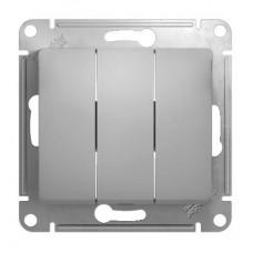 Механизм выключателя Schneider Electric Glossa GSL000331 трехклавишный алюминий