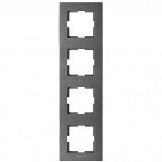 Рамка четырехместная Panasonic Karre Plus WKTF08142DG-RES вертикальная темно-серая