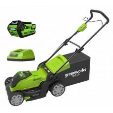 Газонокосилка аккумуляторная Greenworks G-MAX 40V G40LM41K3