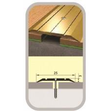 Порог узкий стык 25х900 мм дуб беленый