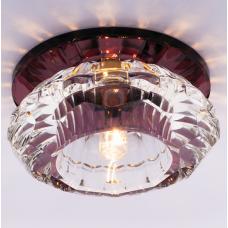 Светильник точечный встраиваемый Italmac Bohemia 220 3 74 G9 пурпур 40 Вт