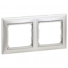 Рамка двухместная Legrand Valena 770152 горизонтальная алюминий