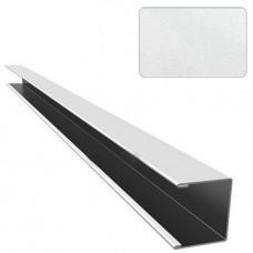 П-профиль алюминиевый Cesal Стандарт C01 жемчужно-белый
