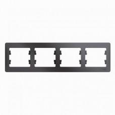 Рамка четырехместная Schneider Electric Glossa GSL001304 графит