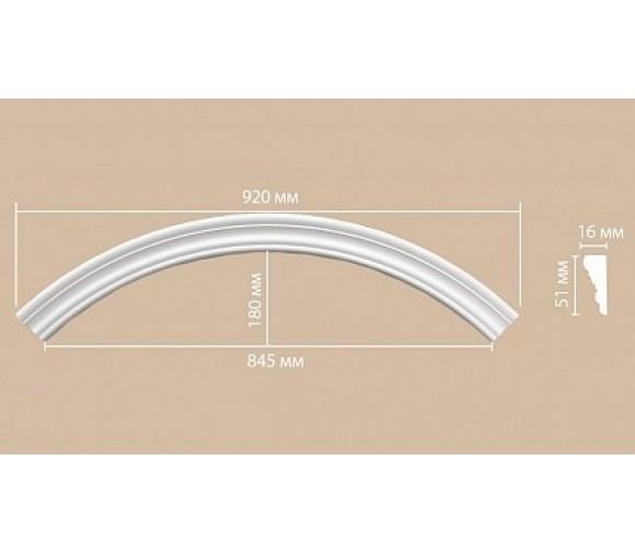 Молдинг-радиус полиуретановый Decomaster 897164-120 1/4 круга