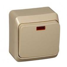 Выключатель Schneider Electric Этюд BA10-005K одноклавишный с индикатором кремовый