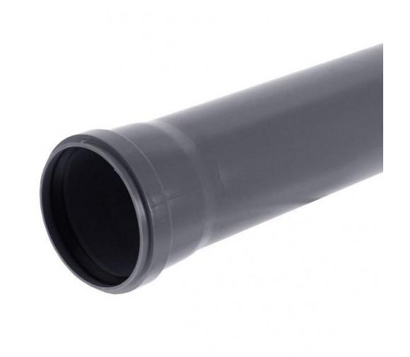 Труба канализационная ПП Саратовпластика Ду 110х2,7х3000 мм с кольцом