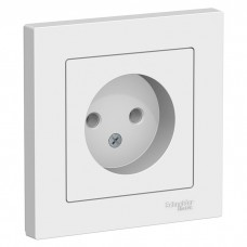 Schneider Electric AtlasDesign ATN000140 одноместная без заземления белая