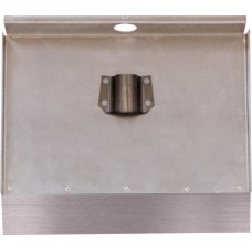 Лопата алюминиевая 3-б 500х375 стальная накладка 2 см без черенка