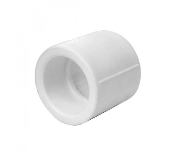 Муфта соединительная PPRC FDplast 50 мм равнопроходная белая