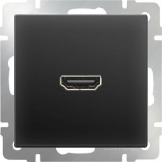 Механизм розетки Werkel HDMI WL08-60-11 черный матовый
