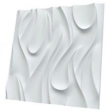 Дизайнерская 3D панель из гипса Artgypspanel Огонь 500х500 мм