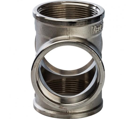 Крестовина Stout SFT-0031-000002 2 дюйма никелированная с внутренней резьбой