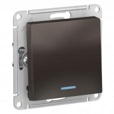 Механизм выключателя Schneider Electric AtlasDesign ATN000613 одноклавишный с индикатором мокко