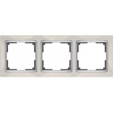 Рамка трехместная Werkel Snabb WL03-Frame-03-ivory Слоновая кость