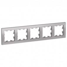 Рамка пятиместная Schneider Electric AtlasDesign ATN000305 алюминий