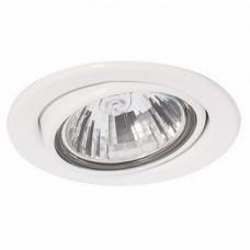 Светильник точечный встраиваемый Italmac Montana 51 1 01 R16 поворотный белый 50 Вт