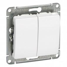 Механизм выключателя Schneider Electric Glossa GSL000151 двухклавишный белый