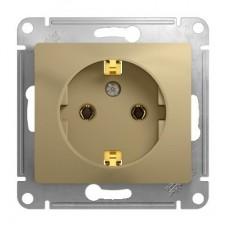 Механизм розетки Schneider Electric Glossa GSL000443 одноместный с заземлением титан