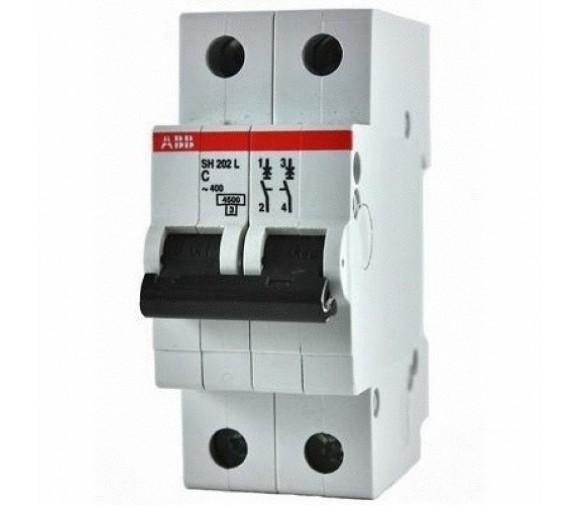 Автоматический выключатель ABB SH202L 2P 4.5кА 63А С