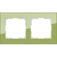 Рамка двухместная Werkel Favorit WL01-Frame-02 фисташковая