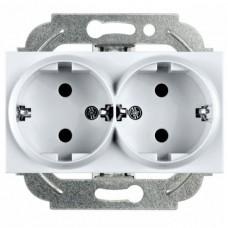 Механизм розетки Panasonic Karre Plus WKTT02052SL-RES двухместный с заземлением серебро