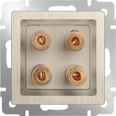 Механизм акустической розетки Werkel WL10-AUDIOx4 шампань рифленый