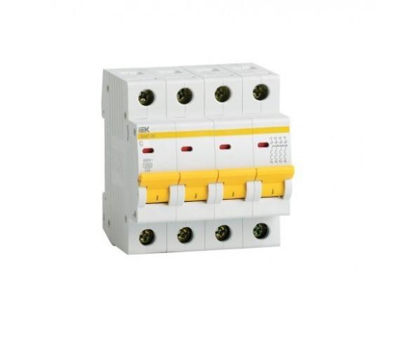 Автоматический выключатель IEK ВА47-29 4Р 20А С