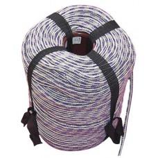 Шнур вязаный полипропиленовый с сердечником цветной Ф12 мм (200м) 37 ктек 370 кгс