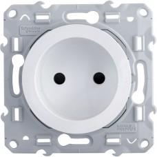 Механизм розетки Schneider Electric Odace S52R033 одноместный с защитными шторками белый
