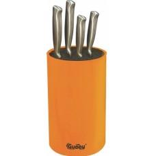 Универсальная подставка для ножей 11х18 см оранжевая Guppy