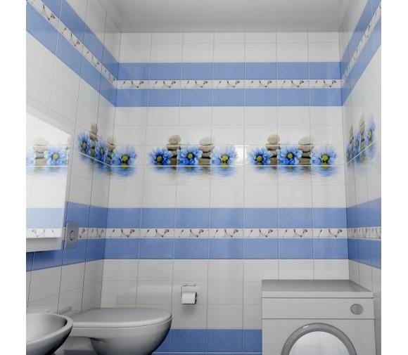 Стеновая панель ПВХ Novita фриз 3D Каприз добор 2700x250 мм